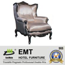 Mobiliário de hotel de luxo cadeira de madeira (EMT-HC95)