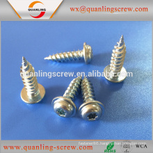 Newest design high quality pan flanged head self tapping screw for plastic