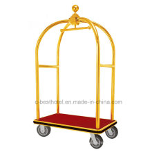 Hotel de acero inoxidable Luggage Baggage Service Cart