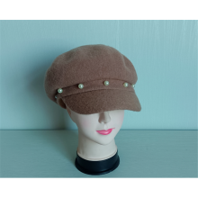 Ladies' Knitted 100% Wool Casual Cabbie Cap