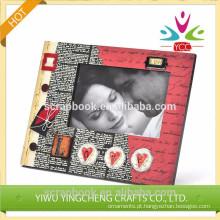 foto engraçada quadro casamento moldura de madeira
