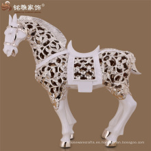 Decoración de Navidad adorno de piso resumen de la figura de animales polifuncionales resina caballo escultura