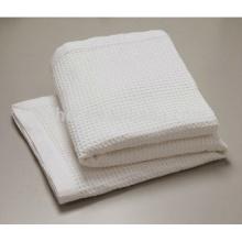 Couverture thermique blanche de gaufre de coton d'utilisation d'hôpital