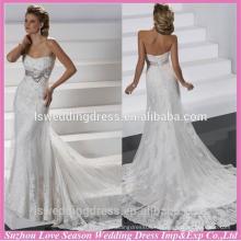 WD1218 новый дизайн с низкой ценой съемный ремень аппликация кристалл свадебное платье низкая спинка корсет часовня поезд свадебные платья Гость