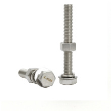 High tension hardware fasteners stainless steel hex bolt and nut M6