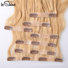 Wholesale Hot Selling Full Cuticles Doppel Drawn Remy Haut Haarverlängerung nahtlose Clip in