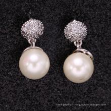 produits uniques 2018 europe bijoux de mode perle boucles d'oreilles