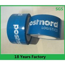 Cinta adhesiva del embalaje de encargo transparente / transparente de BOPP, cinta impresa del lacre del cartón