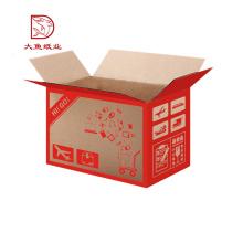Manufactura profesional diseño personalizado caja de cartón de fruta marrón manzanas
