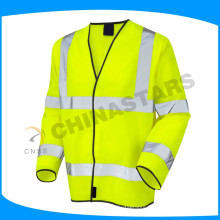 EN 20471 certified fluo yellow orange safety clothing high visibility coat