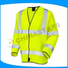 EN 20471 сертифицированная флюоро-желтая оранжевая защитная одежда с высокой видимостью