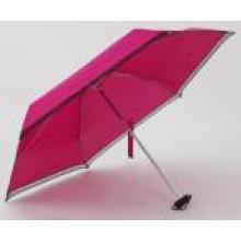 Manual abierto paraguas plegable 5 secciones