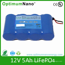 Rechargeable 12V 5ah LiFePO4 Battery