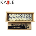Mini Wooden Ivory Domino with Black Dots Wholesale