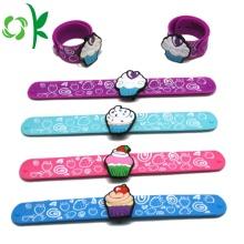 Custom Logo Silicone Snap Bracelet Silicone Slap Wristband