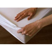 Saia de cama de algodão cor sólida para hotel ou casa com lençol