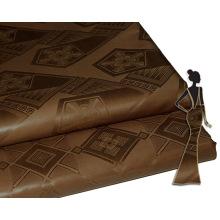 Afrique 100% Coton Textile Matériel Guinée Brocade Mode Vêtement Tissu Prix Par Cour pour Femmes Robe de Broderie