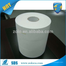 Self adhesive destructible label paper