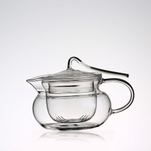 Clear Pyrex glass tea sets with teapot chinese tea kettle Design to prevent the lid from falling off