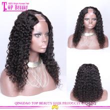 Peluca virginal brasileña del pelo humano de la onda floja de la mejor calidad que parte pelucas para las mujeres negras