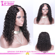 Best quality loose wave brazilian virgin human hair u part wigs for black women