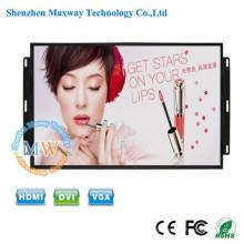resolução 1440X900 quadro aberto monitor LCD de 17 polegadas com botões de menu