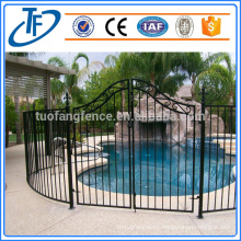 portable black temporary swimming pool fence