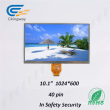 Anti-Smudge 10.1 Inch Resolution 1024 Rgbx600 Character LCD