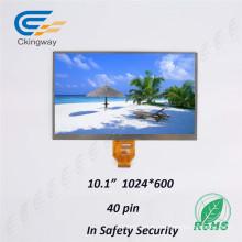 Анти-Smudge 10,1 дюйма Разрешение 1024 Rgbx600 символов LCD