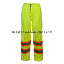 Elasticated Waist Hi-Vis Reflective Waterproof Safety Rain Pants