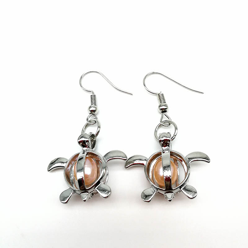 Girl S Fashion Turtle Pendant Earrings