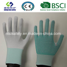 PVC Dots Polyester Work Safety Gloves