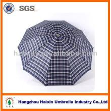 Neue Mode! Check-Garn gefärbt Regen Regenschirm