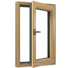 Fenêtre d'ouverture à guillotine latérale en aluminium / facile à utiliser