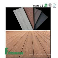 Decking composé en plastique en bois extérieur imperméable de Co-Extrusion UPVC