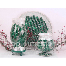 Florero de mosaico de vidrio (TM1817)