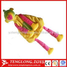 Bolso suave colorido del juguete de la felpa del mono del regalo del día de los niños para los cabritos