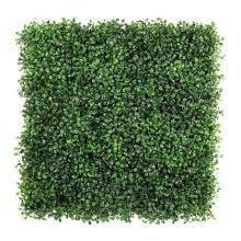 2017 nuevas plantas de boj artificial verde anti-ultravioleta para la fijación en la pared