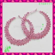 Le dernier design Belle boucles d'oreilles à gros gouttes, nouvelles boucles d'oreilles Pink C
