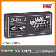 New 3 in 1 International Adult Chess Game