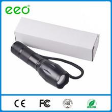 Zoom plus lumineux 5 Modes G700 Long Range led Flashlight, 18650 Rechargeable led Flashlight XML T6 10W Tactical Flashlight