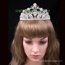 Corona cristalina de la boda de la tiara de la nueva manera