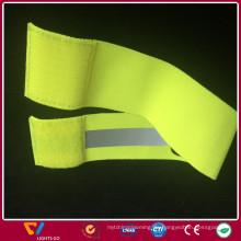 Nachtsicht 100% Polyester leuchtendes gewebtes reflektierendes elastisches Band