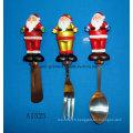Éplaste décoratif de Noël avec poignée en résine