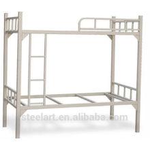 Conception de lit de double pont en métal enduit de poudre
