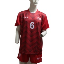 Sublimation Dri Fit Red Neue Fußballtrikots
