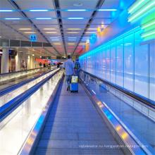 Общественный Место Проходной Аэропорт Открытый Внутренний Пассажир Перемещение Тротуара