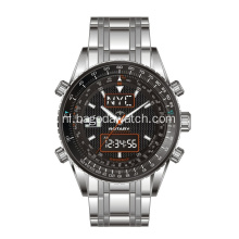 High end dual movement mannen horloge