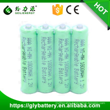 4 pieces a pack NIMH AAA 1800mah Rechargeable Battery 1.2V