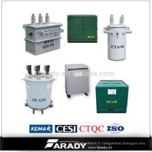 Transformateur électrique à transformateur électrique monophasé monophasé de 13,8 kv 37,5kv fabriqué en Chine